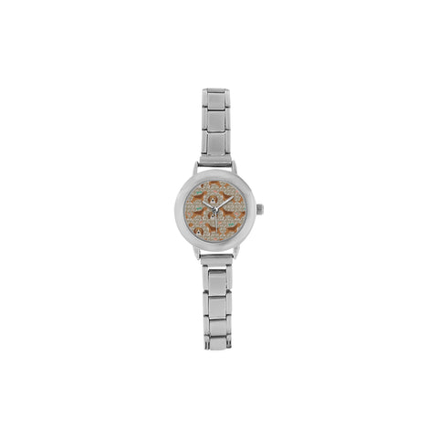 Beagle Pattern Women's Italian Charm Watch(Model 107) - TeeAmazing