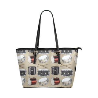 Drum Pattern Leather Tote Bag/Small - TeeAmazing