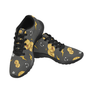 Cymbals Pattern Black Women's Running Shoes (Model 020) - TeeAmazing