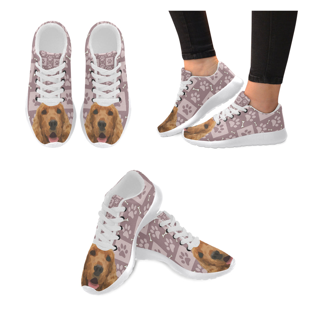 American Cocker Spaniel White Sneakers for Women - TeeAmazing