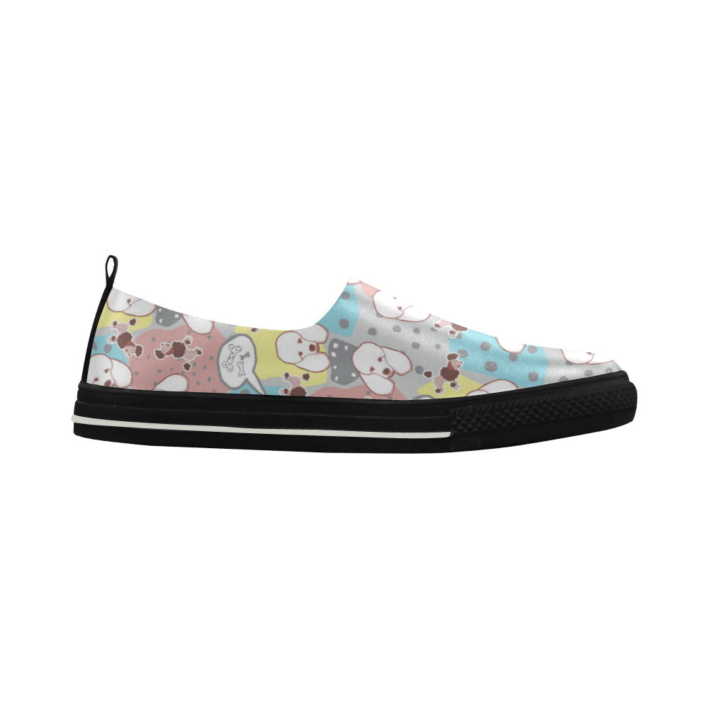 Poodle Pattern Apus Slip-on Microfiber Women's Shoes - TeeAmazing