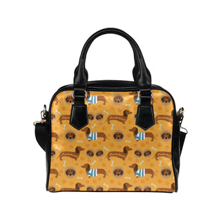 Dachshund Pattern Shoulder Handbag - TeeAmazing