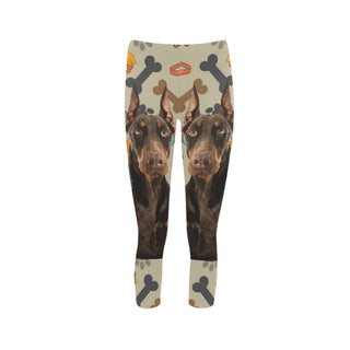 Doberman Dog Capri Legging (Model L02) - TeeAmazing