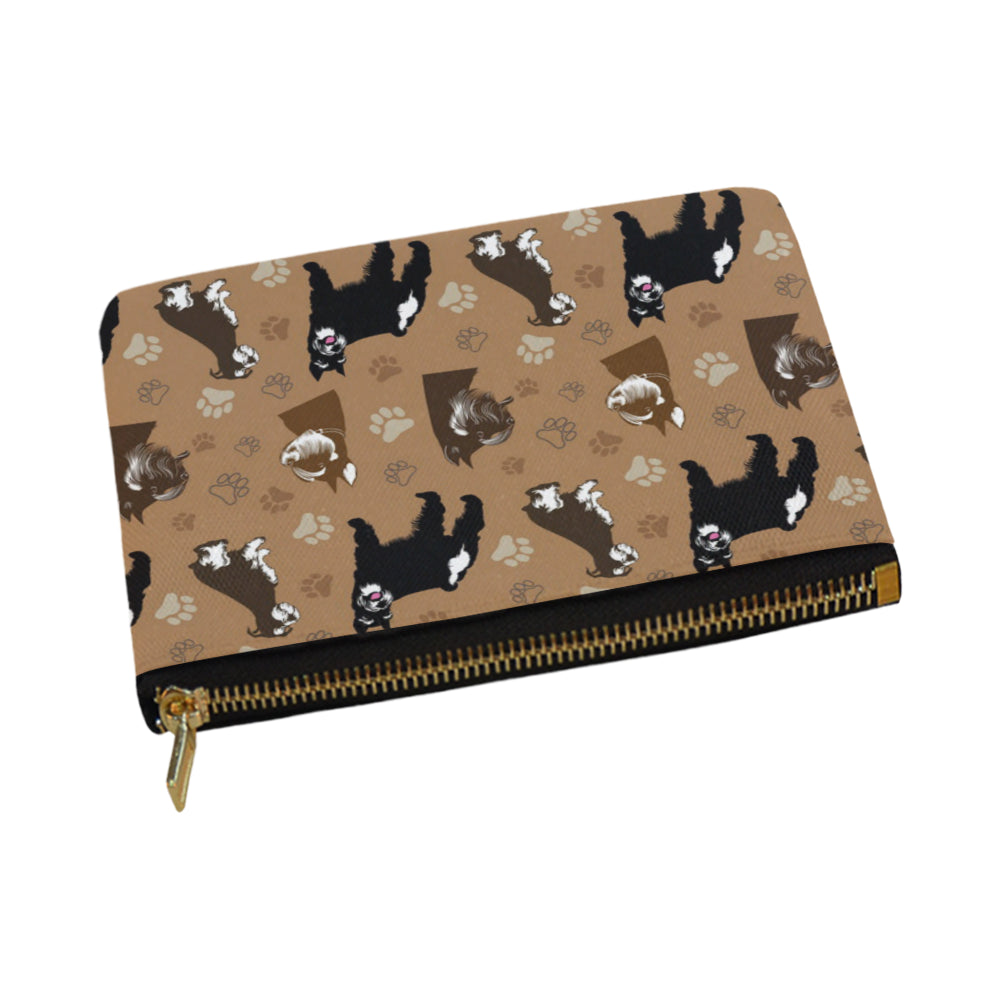 Miniature Schnauzer Pattern Carry-All Pouch 12.5x8.5 - TeeAmazing