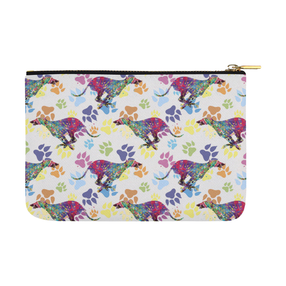 Greyhound Running Pattern No.1 Carry-All Pouch 12.5x8.5 - TeeAmazing