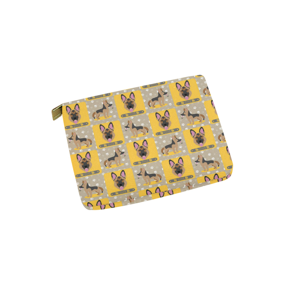 German Shepherd Pattern Carry-All Pouch 6x5 - TeeAmazing