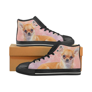 Chihuahua Lover Black High Top Canvas Women's Shoes/Large Size - TeeAmazing