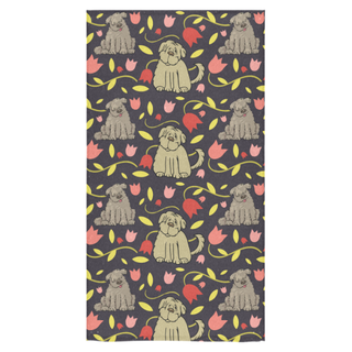 "Tibetan Terrier Flower Bath Towel 30""x56"" - TeeAmazing"