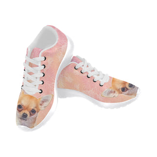 Chihuahua Lover White Sneakers for Men - TeeAmazing