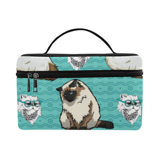Himalayan Cat Cosmetic Bag/Large (Model 1658) - TeeAmazing