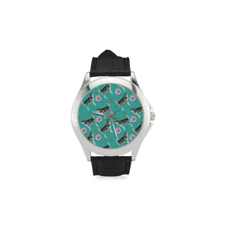 Alaskan Malamute Water Colour Pattern No.1 Women's Classic Leather Strap Watch - TeeAmazing