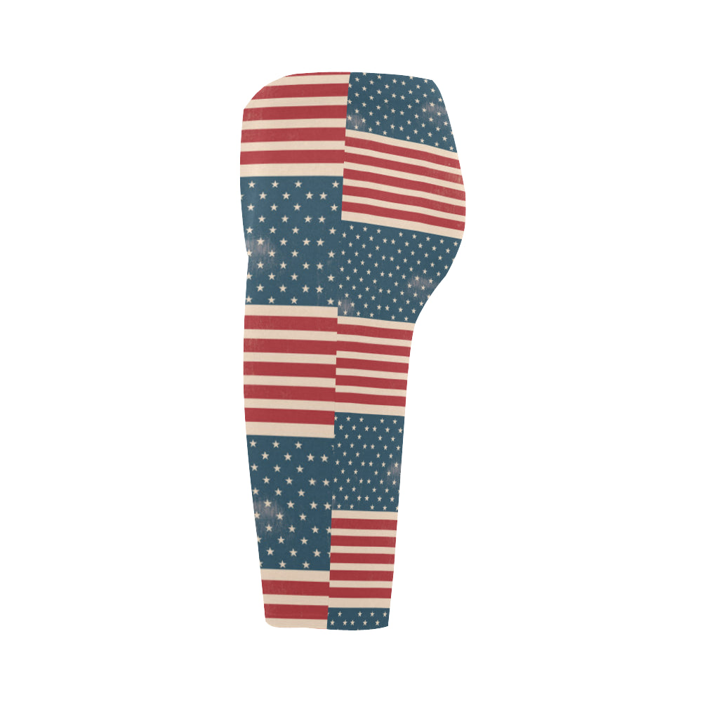 4th July V2 Hestia Cropped Leggings - TeeAmazing