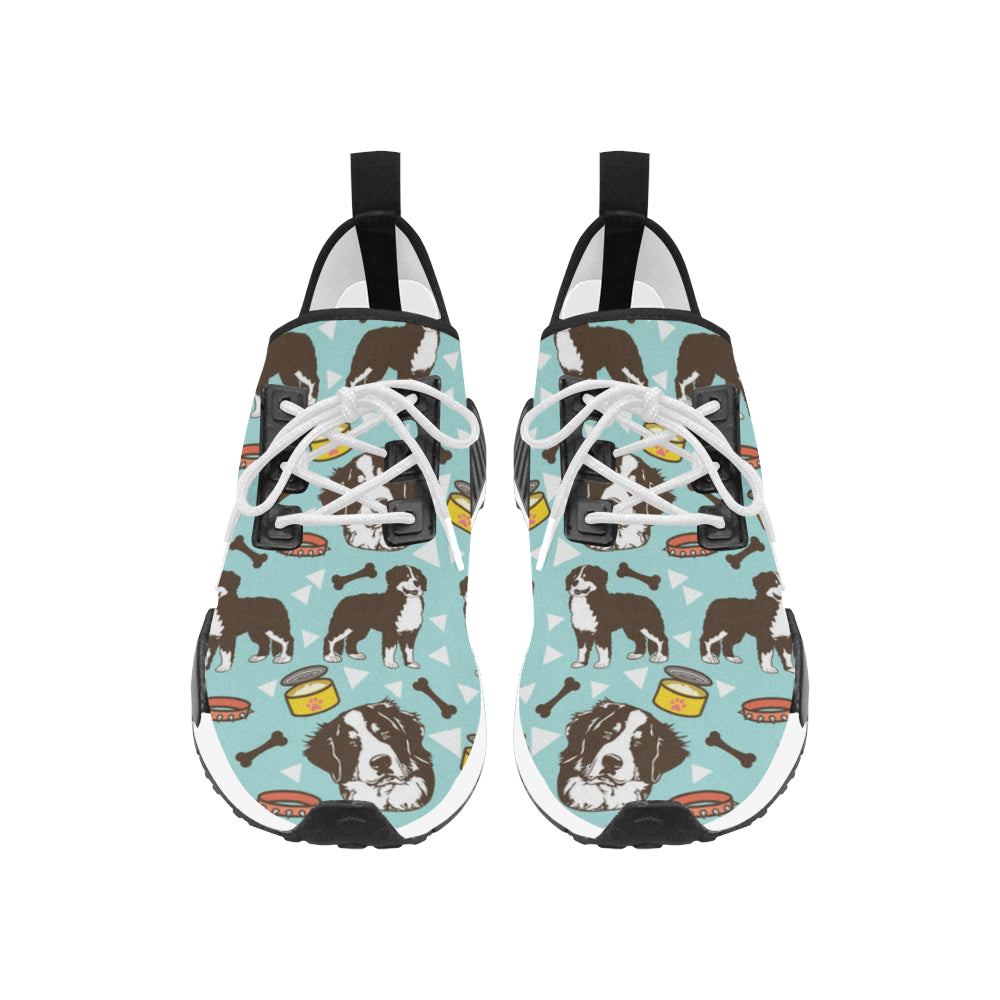 Bernese Mountain Pattern Women's Draco Running Shoes - TeeAmazing