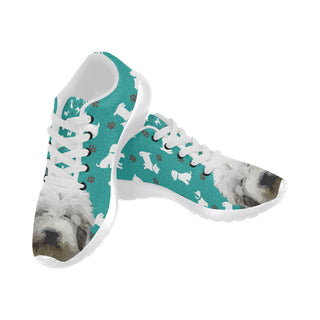 Mioritic Shepherd Dog White Sneakers for Women - TeeAmazing