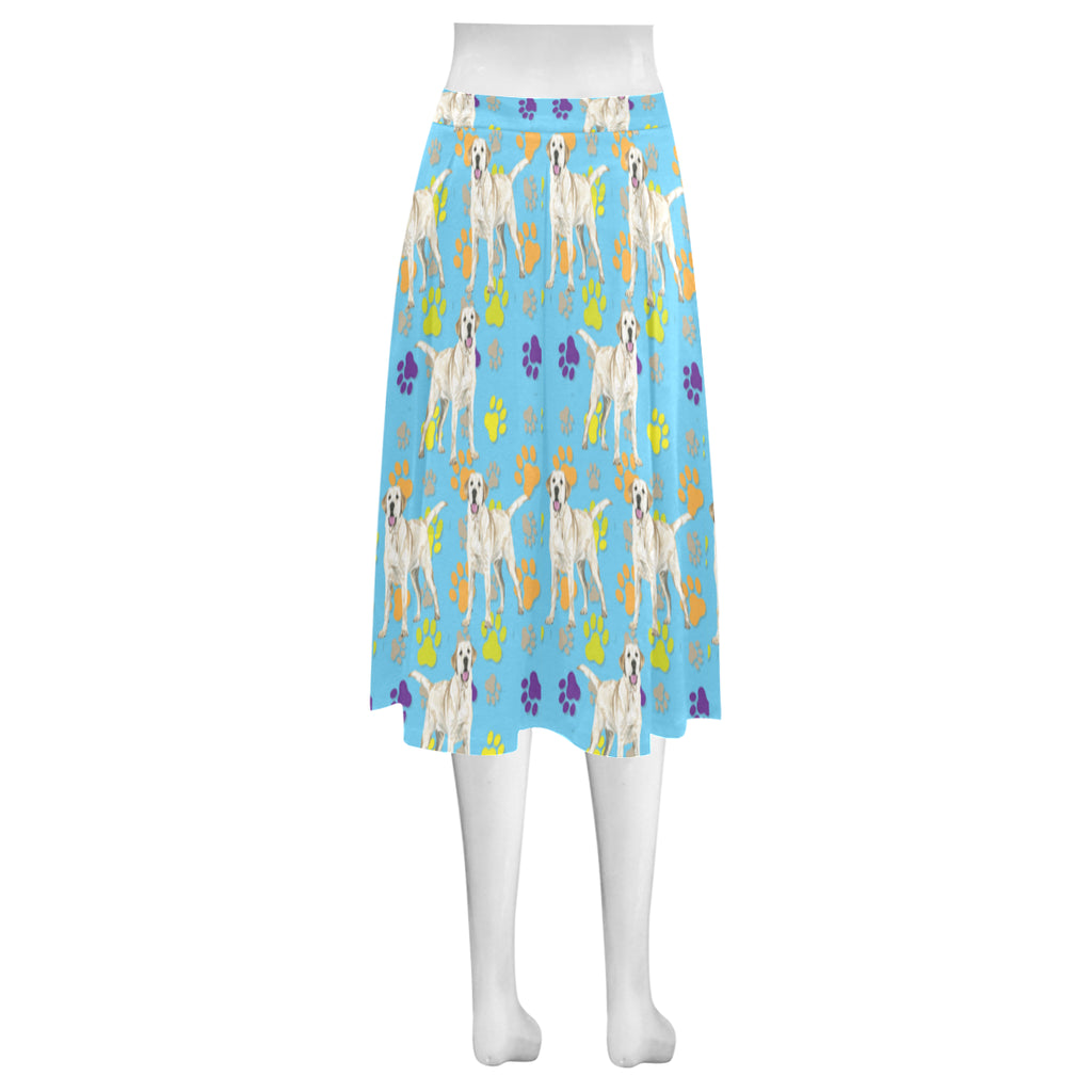 Labrador Retriever Water Colour Pattern No.1 Mnemosyne Women's Crepe Skirt (Model D16) - TeeAmazing