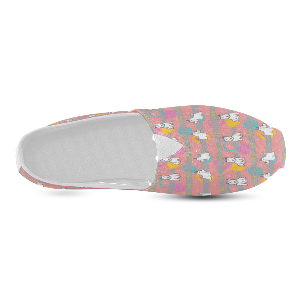 Scottish Terrier Pattern Women's Casual Shoes - TeeAmazing