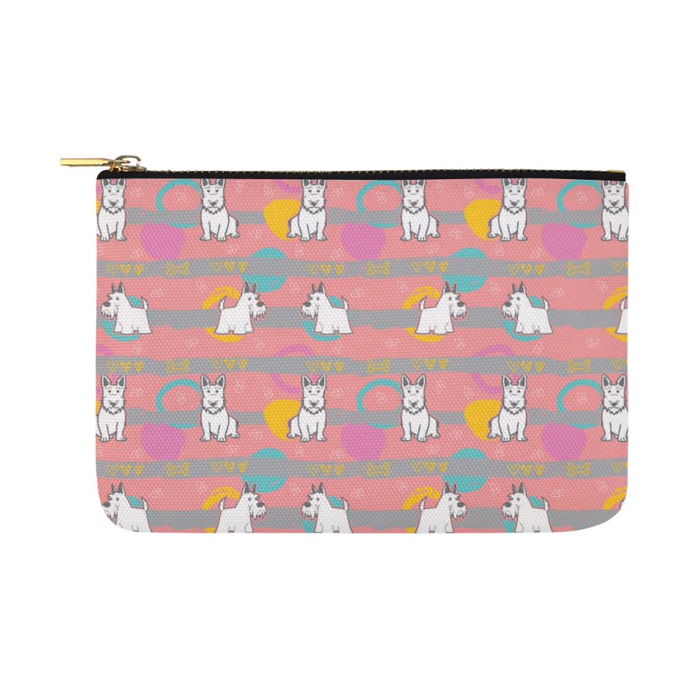 Scottish Terrier Pattern Carry-All Pouch 12.5x8.5 - TeeAmazing