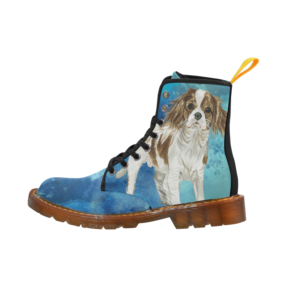 Cavalier King Charles Spaniel Water Colour No.1 Black Boots For Women - TeeAmazing