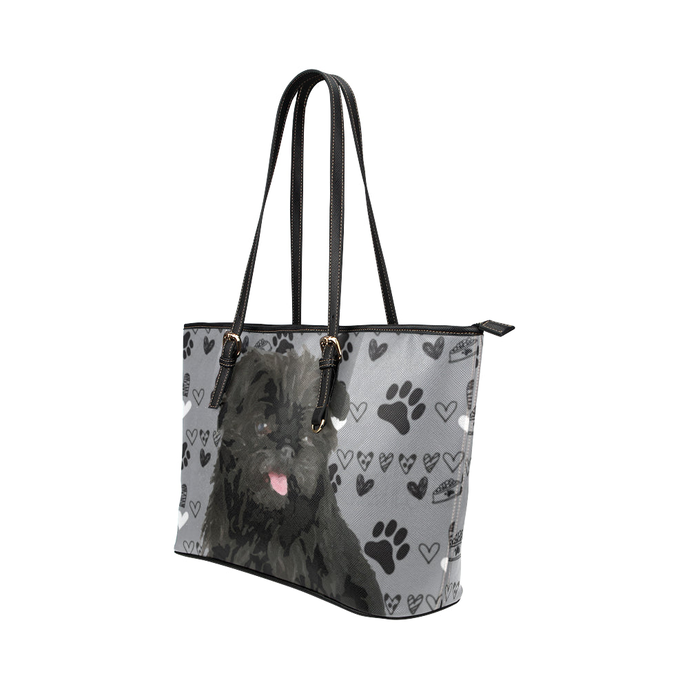 Affenpinschers Leather Tote Bag/Small - TeeAmazing
