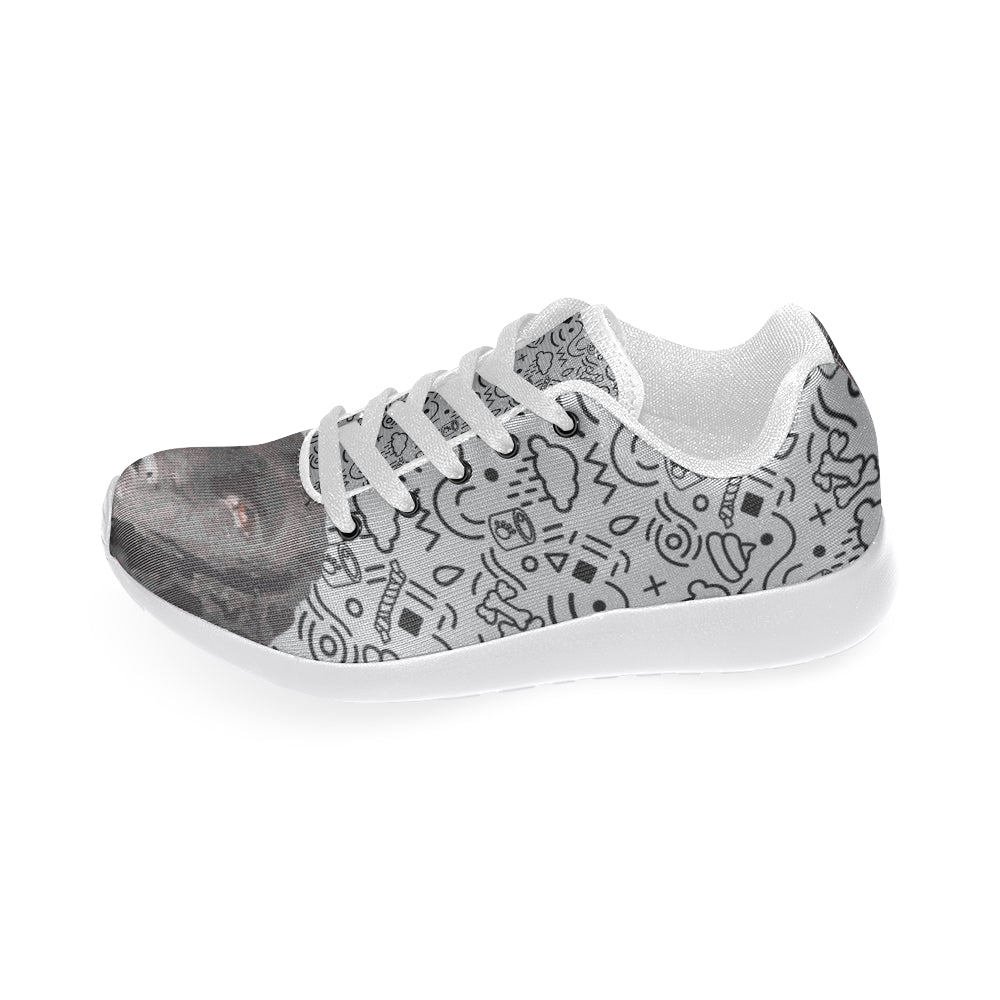 Curly Coated Retriever White Sneakers for Men - TeeAmazing