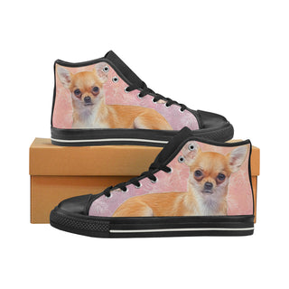 Chihuahua Lover Black Women's Classic High Top Canvas Shoes - TeeAmazing