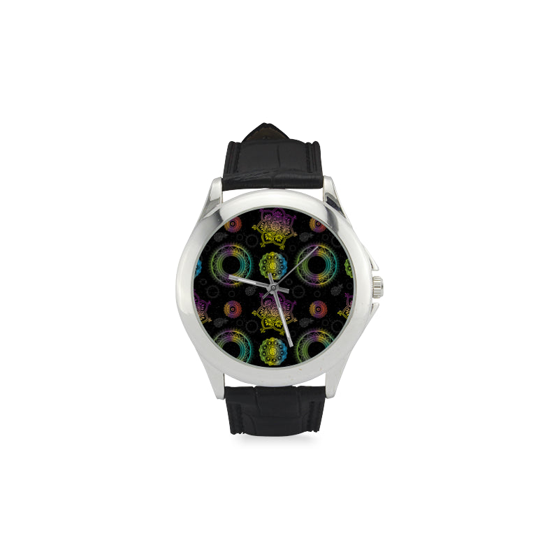 Chakra Women's Classic Leather Strap Watch - TeeAmazing