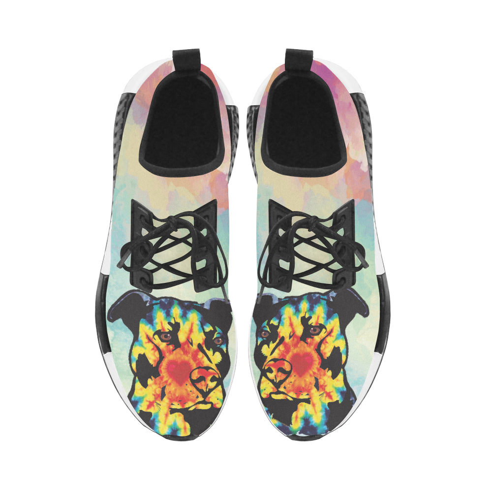 Pit Bull Pop Art No.1 Men's Draco Running Shoes - TeeAmazing
