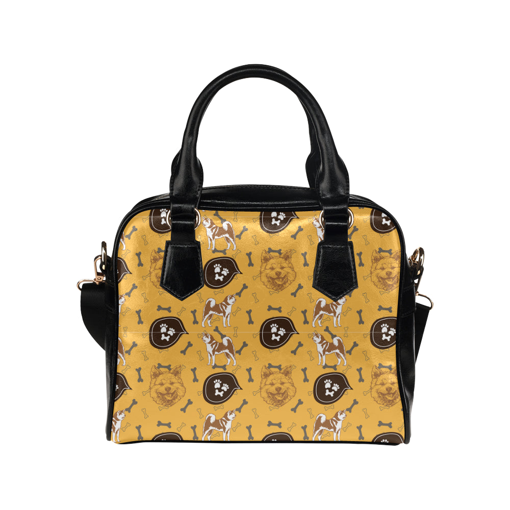 Akita Pattern Shoulder Handbag - TeeAmazing