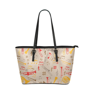 Trumbone Pattern Leather Tote Bag/Small - TeeAmazing