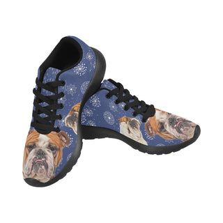English Bulldog Lover Black Sneakers for Women - TeeAmazing