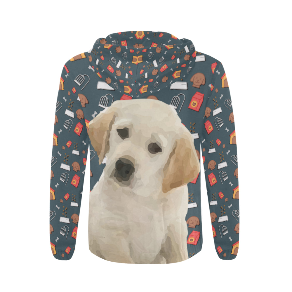 Goldador Dog All Over Print Full Zip Hoodie for Men - TeeAmazing
