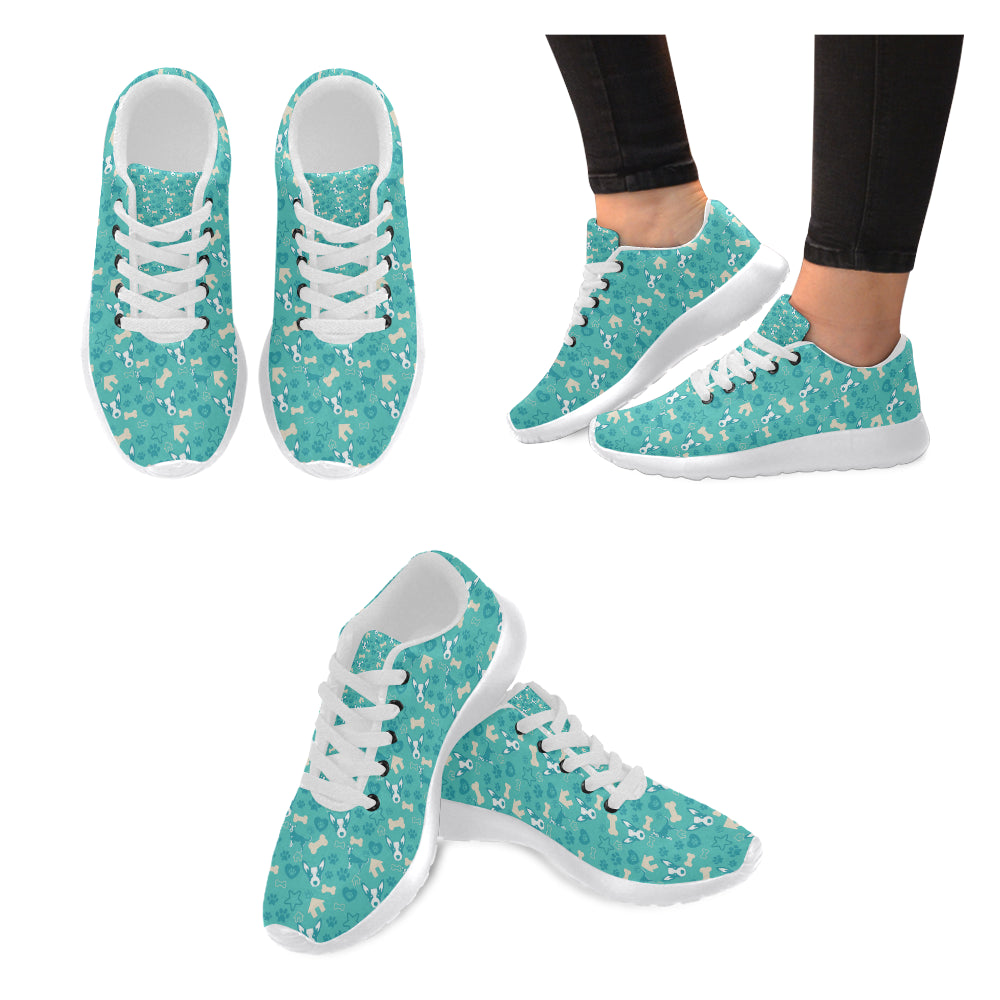 Australian Cattle Dog Pattern White Sneakers for Women - TeeAmazing