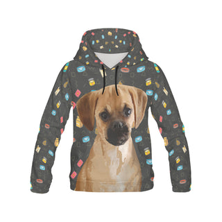 Puggle Dog All Over Print Hoodie for Women (USA Size) (Model H13) - TeeAmazing