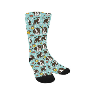 Bernese Mountain Pattern Trouser Socks - TeeAmazing