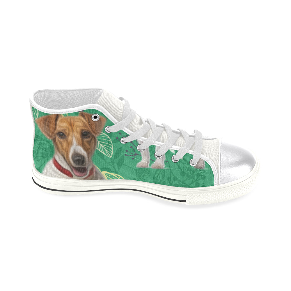 4917c34e479 ... Jack Russell Terrier Lover White Women s Classic High Top Canvas Shoes  - TeeAmazing ...