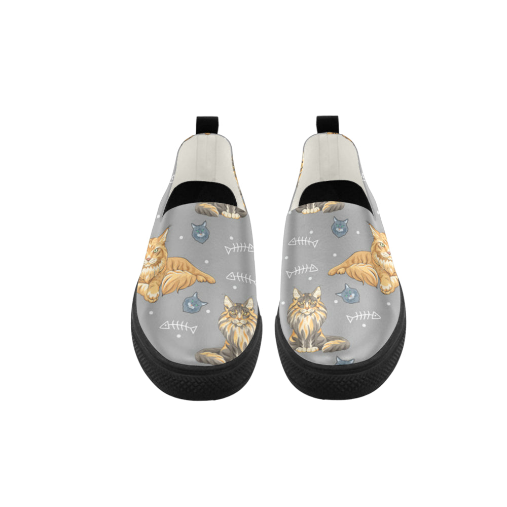 Maine Coon Apus Slip-on Microfiber Women's Shoes - TeeAmazing
