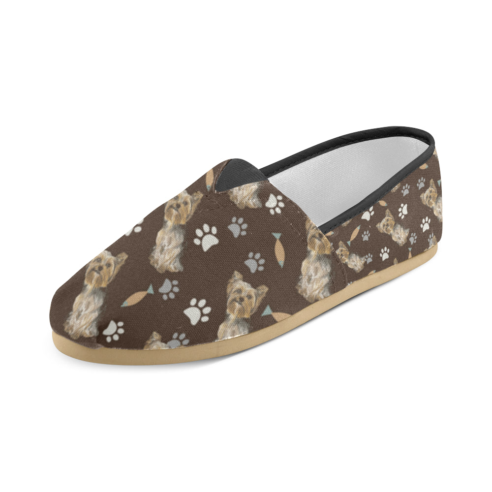 Yorkshire Terrier Water Colour Pattern No.1 Women's Casual Shoes - TeeAmazing