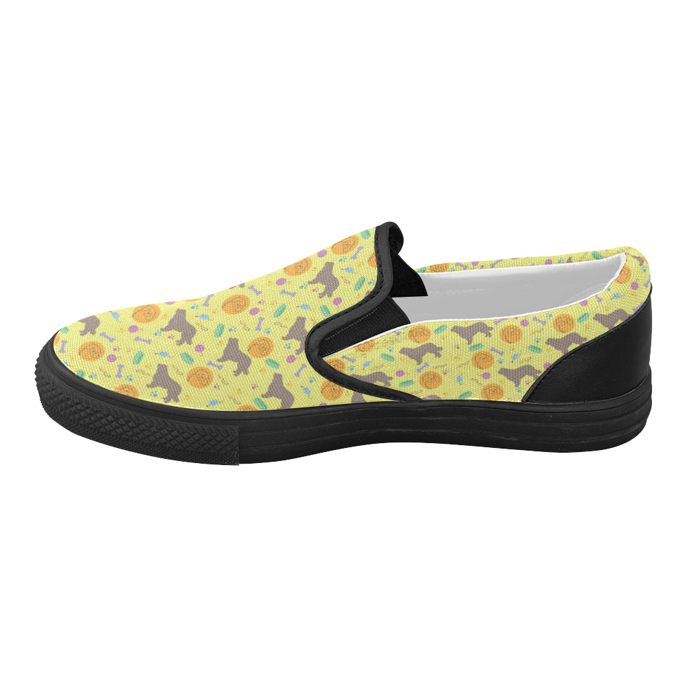 Newfoundland Pattern Black Women's Slip-on Canvas Shoes - TeeAmazing