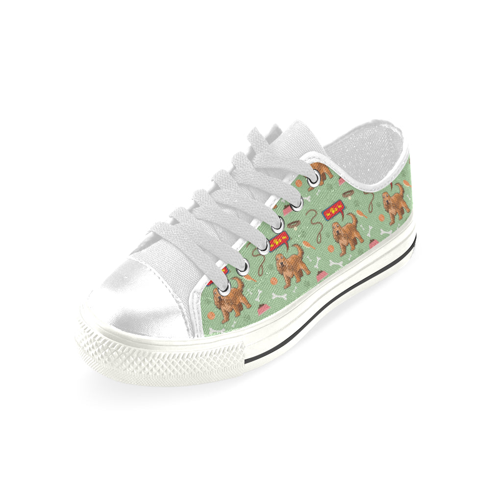 American Cocker Spaniel Pattern White Men's Classic Canvas Shoes - TeeAmazing