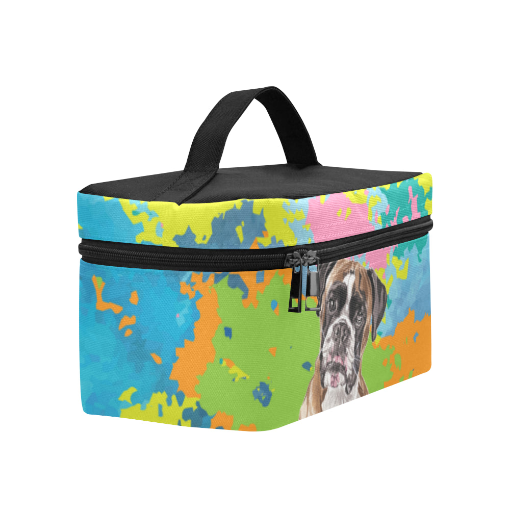 Boxer Water Colour No.2 Cosmetic Bag/Large - TeeAmazing