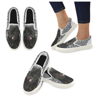 Affenpinschers White Women's Slip-on Canvas Shoes - TeeAmazing