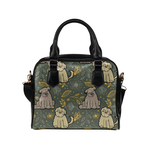 Briard Flower Shoulder Handbag (Model 1634) - TeeAmazing
