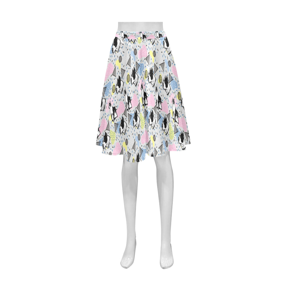 American Staffordshire Terrier Pattern Athena Women's Short Skirt - TeeAmazing