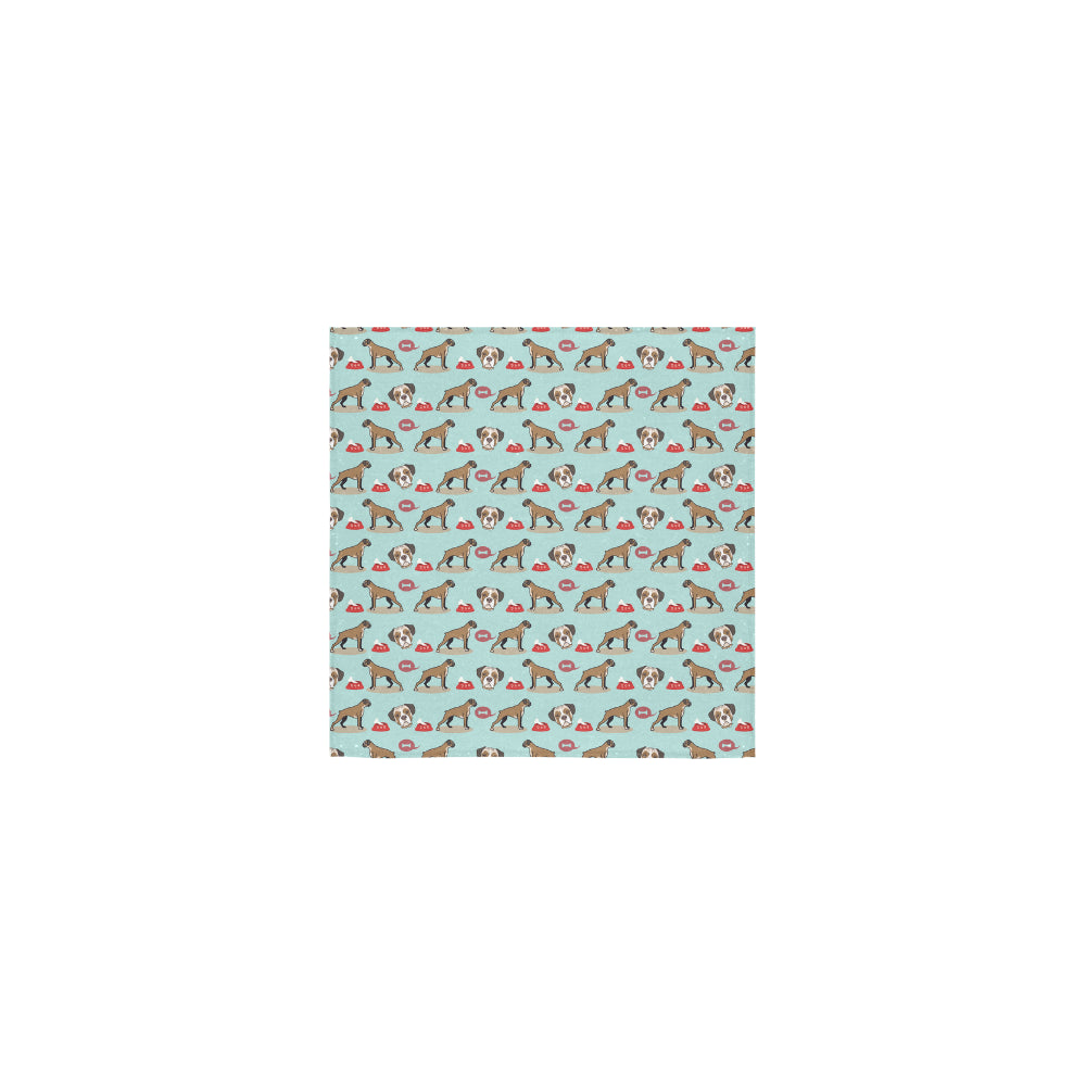 Boxer Pattern Square Towel 13x13 - TeeAmazing