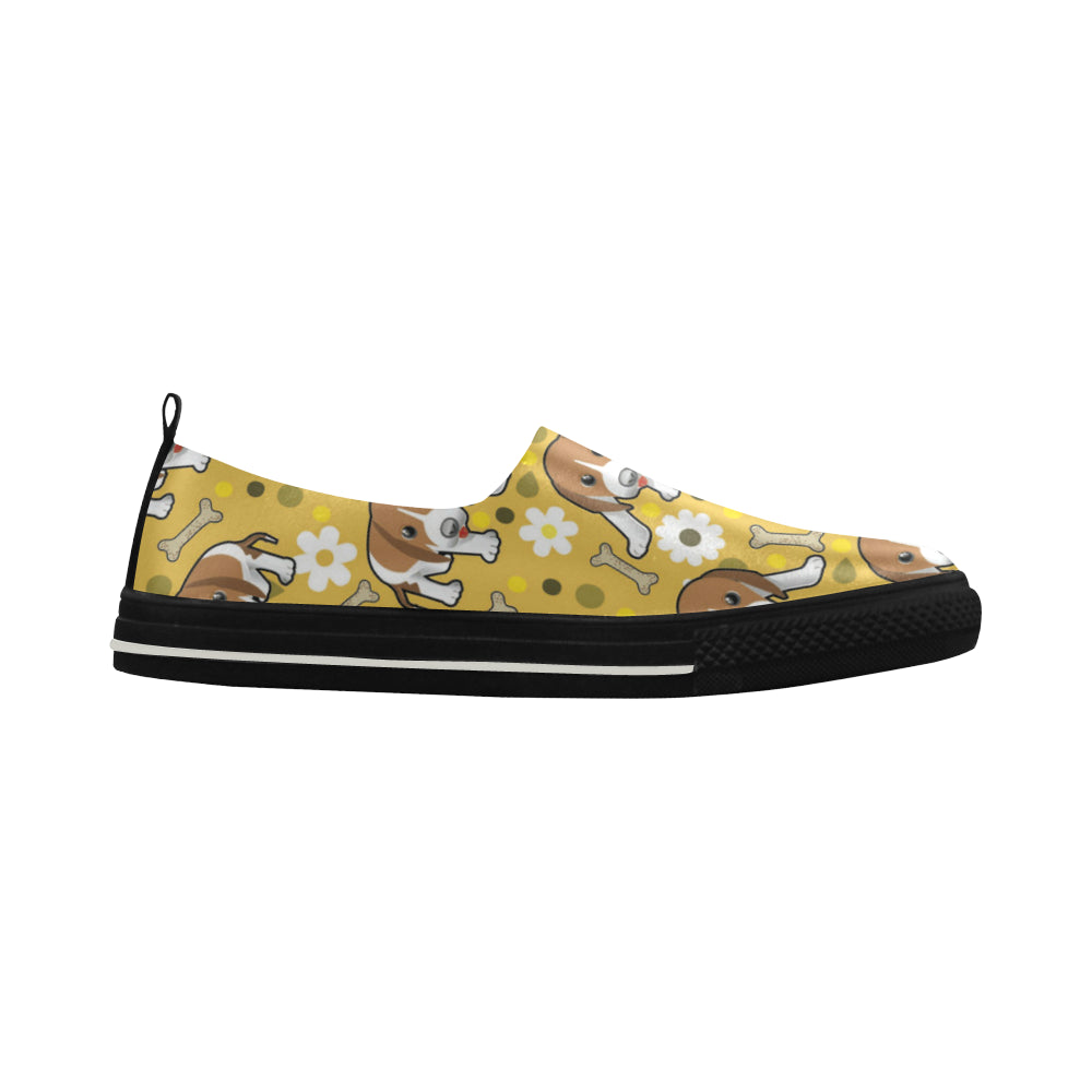 Beagle Apus Slip-on Microfiber Women's Shoes - TeeAmazing