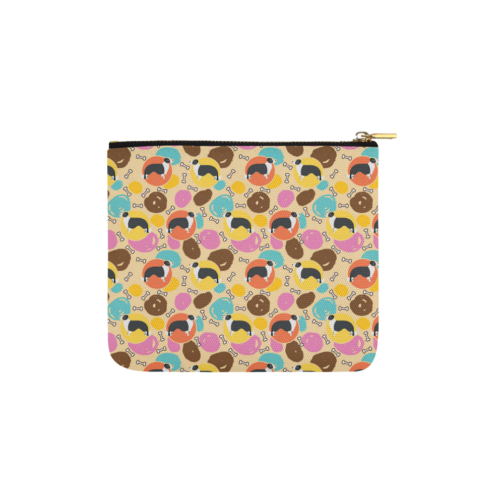 Border Collie Pattern Carry-All Pouch 6x5 - TeeAmazing
