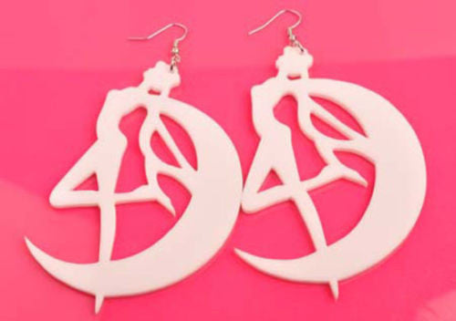 Sailor Moon Tsukino Usagi Earrings Pendant Hook Kawaii Gift Girls Big Drop Earring Fashion Jewelry - TeeAmazing