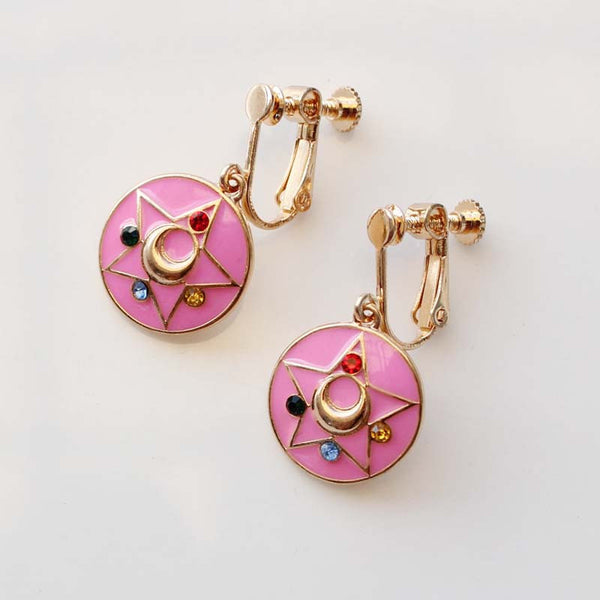 Fashion Jewelry Sailor Moon Earrings Ear pendant Tsukino Usagi Change Device Girl Women Cosplay Accessories - TeeAmazing - 2