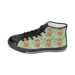 American Cocker Spaniel Pattern Black Women's Classic High Top Canvas Shoes - TeeAmazing