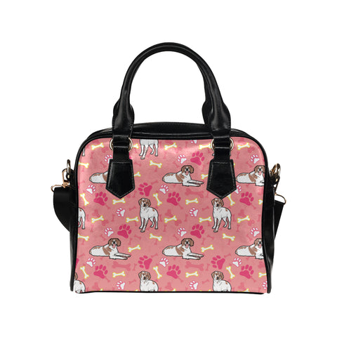 Brittany Spaniel Pattern Shoulder Handbag (Model 1634) - TeeAmazing